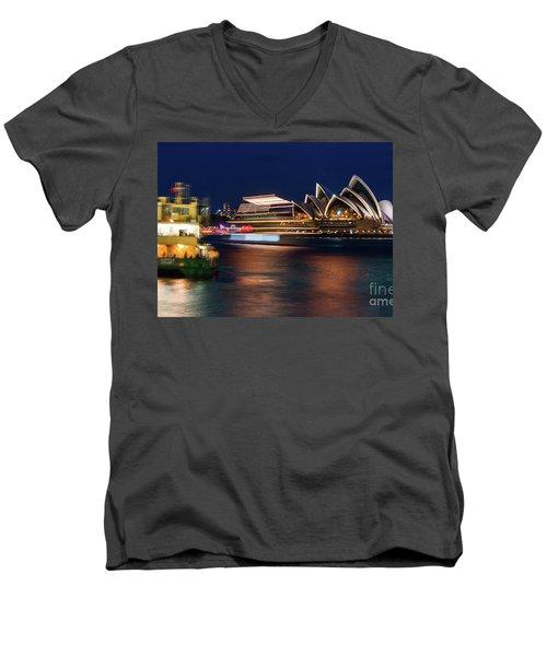 Sydney Night Life Men's V-Neck T-Shirt
