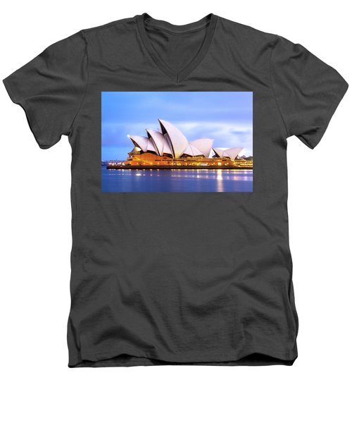 Sydney Opera House At Dawn Men's V-Neck T-Shirt