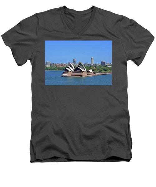 Sydney Opera House No. 17-1 Men's V-Neck T-Shirt by Sandy Taylor