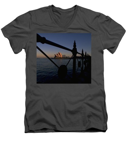 Sydney Opera House Men's V-Neck T-Shirt