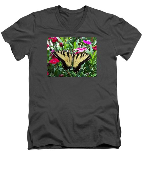 Men's V-Neck T-Shirt featuring the photograph Symmetry by Sandi OReilly
