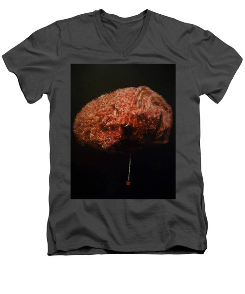 Men's V-Neck T-Shirt featuring the painting Synaesthesia by Cherise Foster
