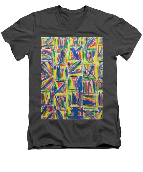 Artwork On T-shirt - 009 Men's V-Neck T-Shirt