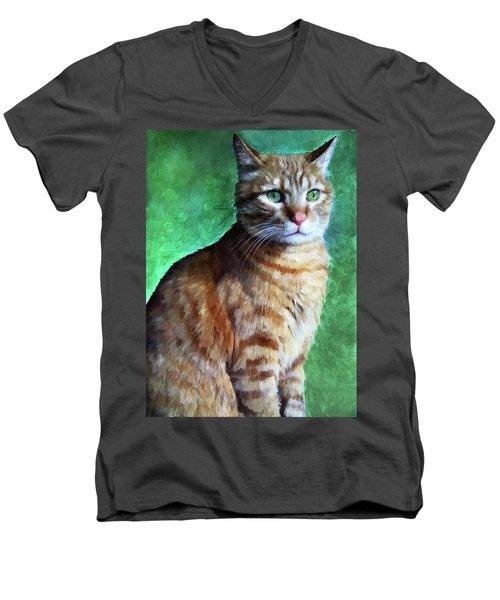 Tabby Cat Men's V-Neck T-Shirt