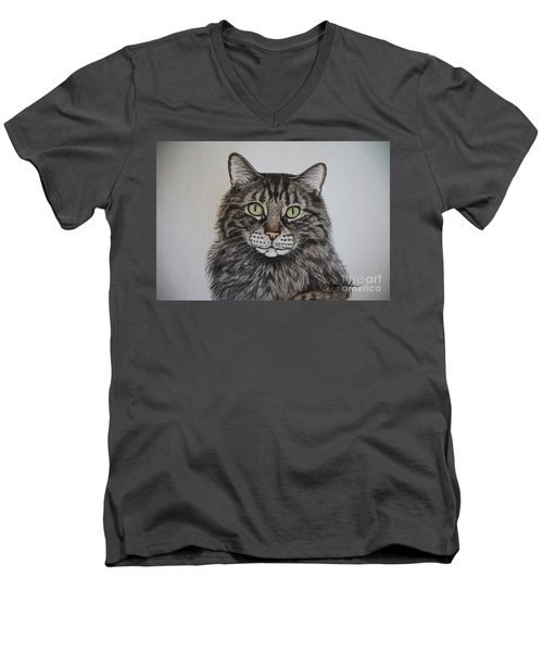 Tabby-lil' Bit Men's V-Neck T-Shirt