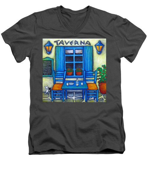 Table For Two In Greece Men's V-Neck T-Shirt