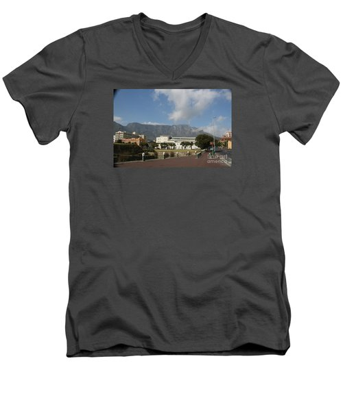 Table Mountain, Capetown Men's V-Neck T-Shirt by Bev Conover