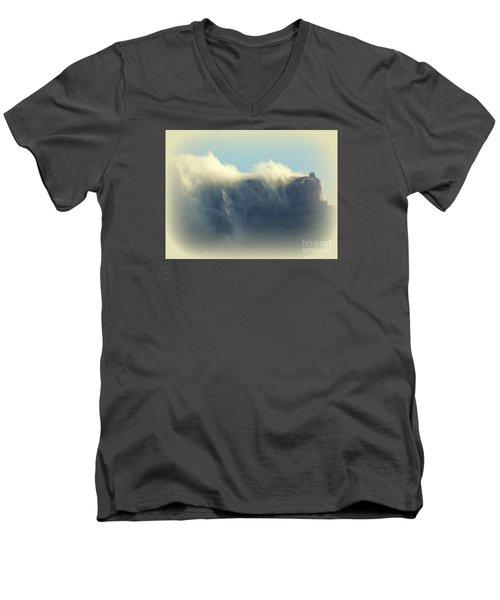 Table Rock With Cloud 2 Men's V-Neck T-Shirt by John Potts