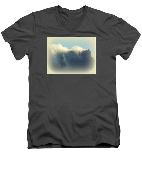 Table Rock With Cloud 2 Men's V-Neck T-Shirt
