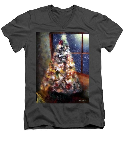 Tabletop Tannenbaum Men's V-Neck T-Shirt