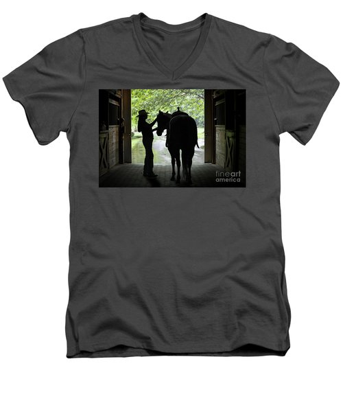 Tackin' Up Men's V-Neck T-Shirt by Nicki McManus