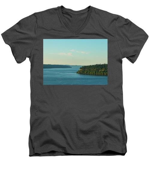 Tacoma Narrows And Commencement Bay II Men's V-Neck T-Shirt
