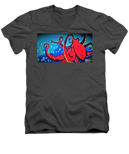 Tacoma Octopus  Men's V-Neck T-Shirt