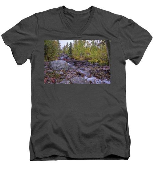Taggert Creek Waterfall Men's V-Neck T-Shirt