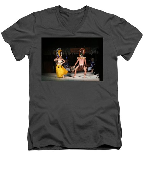 Tahitian Dancers Men's V-Neck T-Shirt