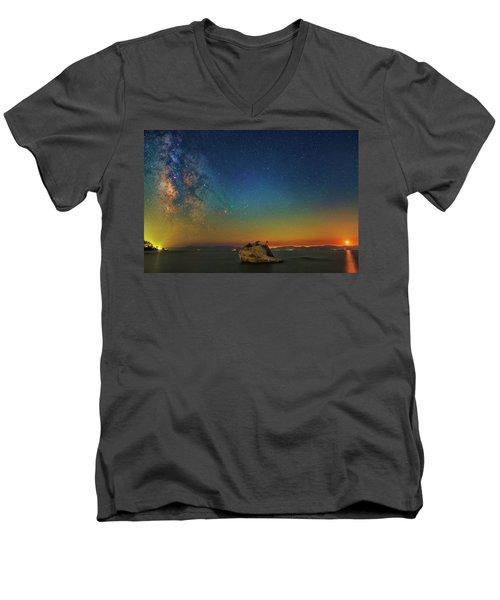 Tahoe Nights Men's V-Neck T-Shirt