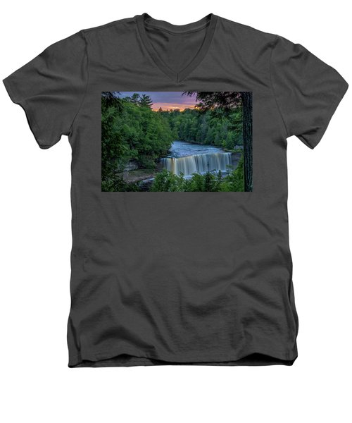 Tahquamenon Falls Sunset. Men's V-Neck T-Shirt