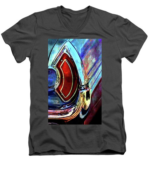 Men's V-Neck T-Shirt featuring the digital art Tail Fender by Greg Sharpe