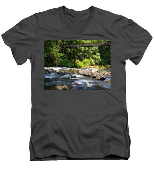 Tails Creek Men's V-Neck T-Shirt