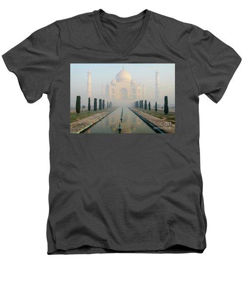 Taj Mahal At Sunrise 02 Men's V-Neck T-Shirt