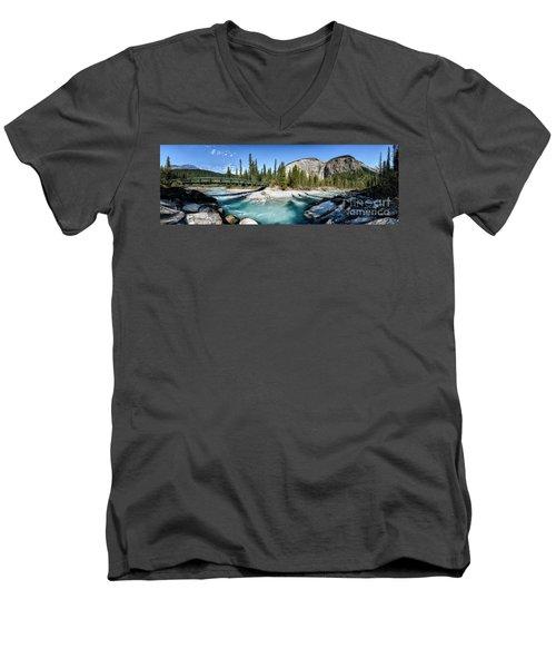 Takakkaw Falls Men's V-Neck T-Shirt by Brad Allen Fine Art