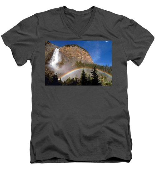 Takakkaw Falls B C Canada   Men's V-Neck T-Shirt