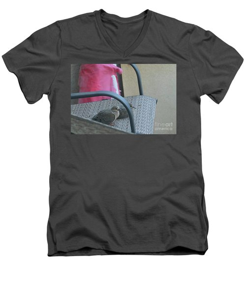 Men's V-Neck T-Shirt featuring the photograph Take A Seat by Anne Rodkin