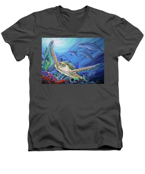 Taking Flight Men's V-Neck T-Shirt by William Love