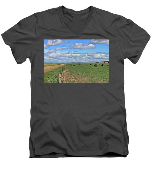 Take Me Home Country Roads Men's V-Neck T-Shirt by Sylvia Thornton