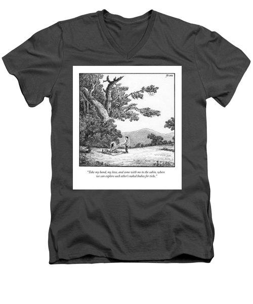 Take My Hand Men's V-Neck T-Shirt