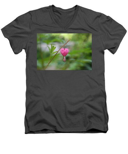 Men's V-Neck T-Shirt featuring the digital art Take My Heart by Barbara S Nickerson