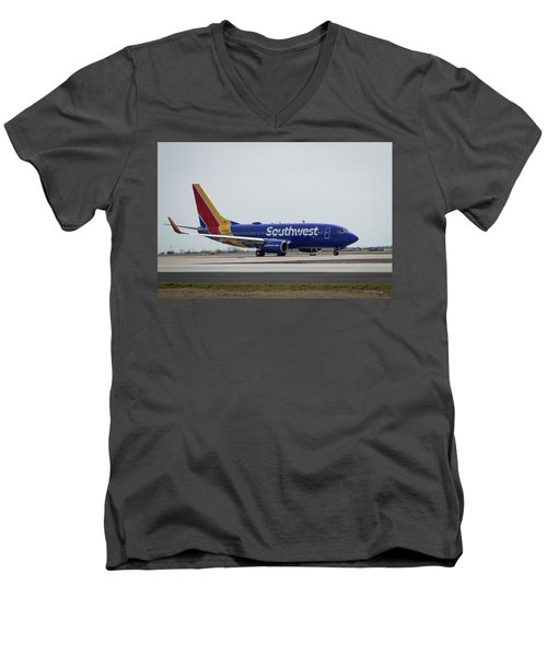 Take Off Southwest Airlines N7878a Hartsfield-jackson Atlanta International Airport Art Men's V-Neck T-Shirt