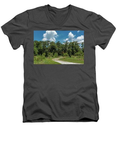 Take The Path Less Traveled Men's V-Neck T-Shirt