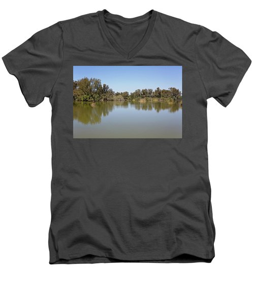 Men's V-Neck T-Shirt featuring the photograph Taking A Walk by Kim Hojnacki