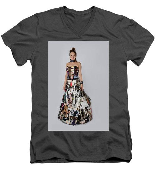 Megan In Gown Men's V-Neck T-Shirt