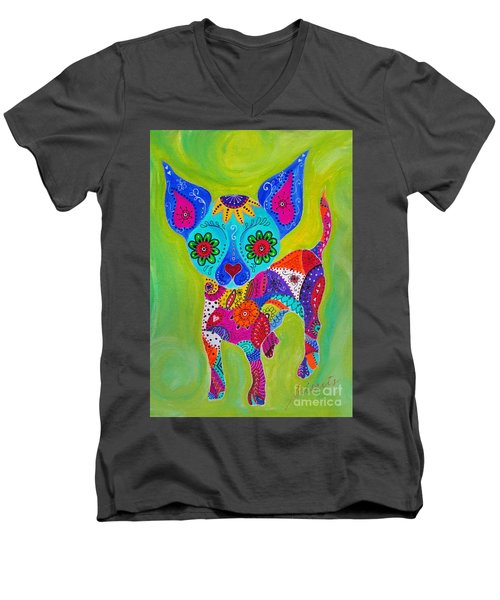 Talavera Chihuahua Men's V-Neck T-Shirt