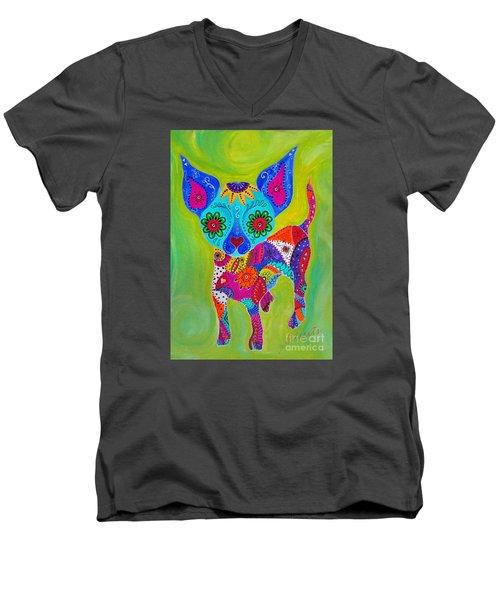 Talavera Chihuahua Men's V-Neck T-Shirt