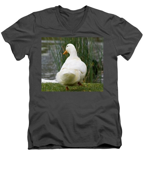 Men's V-Neck T-Shirt featuring the photograph Tale Feathers by Tara Lynn