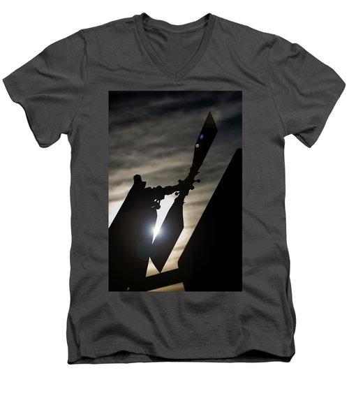 Men's V-Neck T-Shirt featuring the photograph Tale Sun by Paul Job