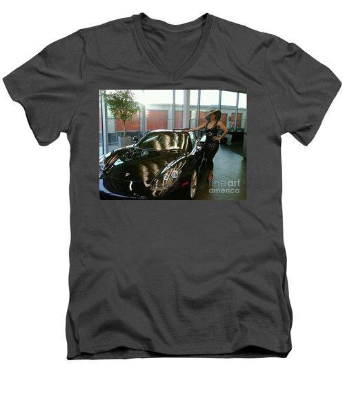 Talisa Hartleys Sports Cars And Big Muscles Men's V-Neck T-Shirt