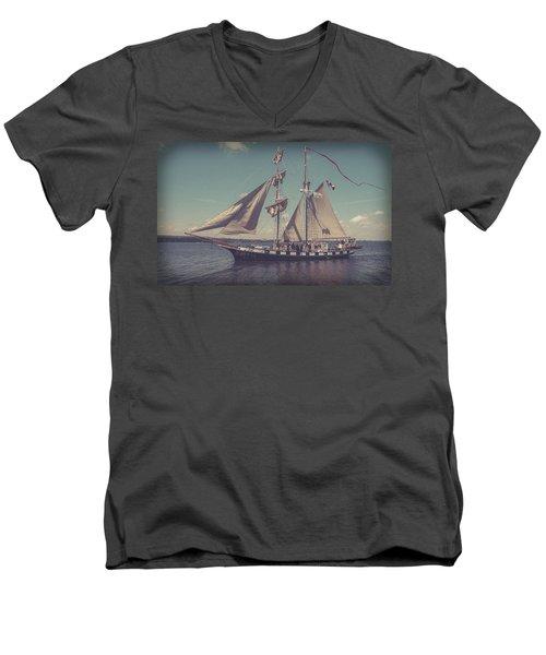 Tall Ship - 4 Men's V-Neck T-Shirt