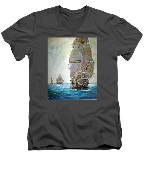 Tall Ships 2 Men's V-Neck T-Shirt
