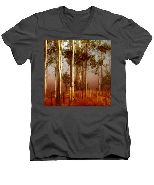 Tall Timbers Men's V-Neck T-Shirt by Holly Kempe