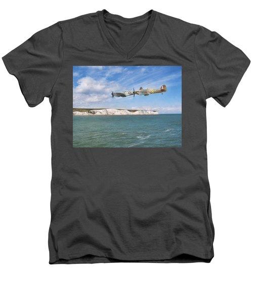 Tally Bally Ho Men's V-Neck T-Shirt by Roy McPeak