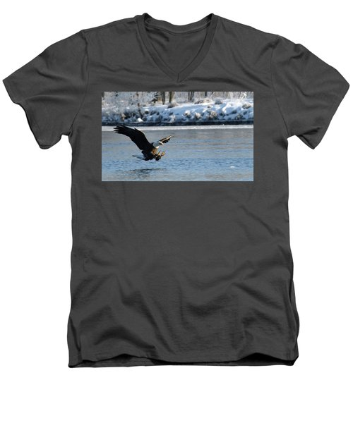 Talons Out Men's V-Neck T-Shirt by Brook Burling