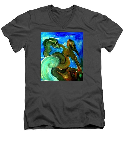 Taming Your Dragon Men's V-Neck T-Shirt