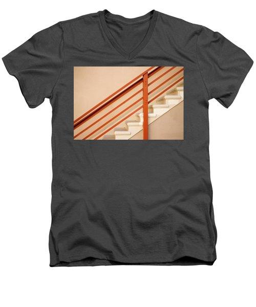 Tan Stairs Venice Beach California Men's V-Neck T-Shirt
