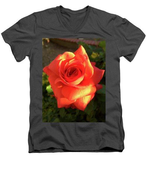 Tangerine Dream Men's V-Neck T-Shirt by Russell Keating
