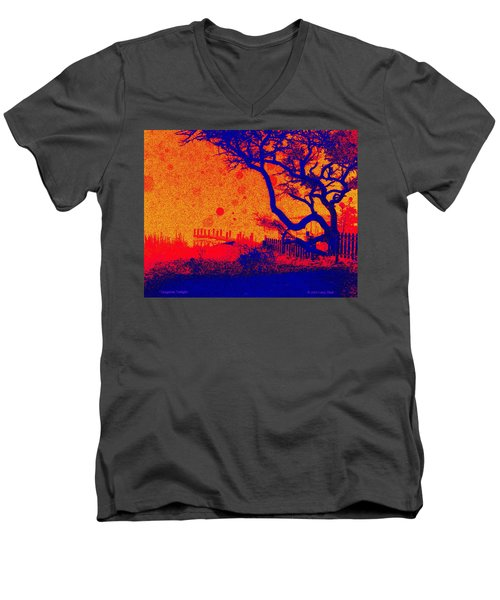 Tangerine Twilight Men's V-Neck T-Shirt