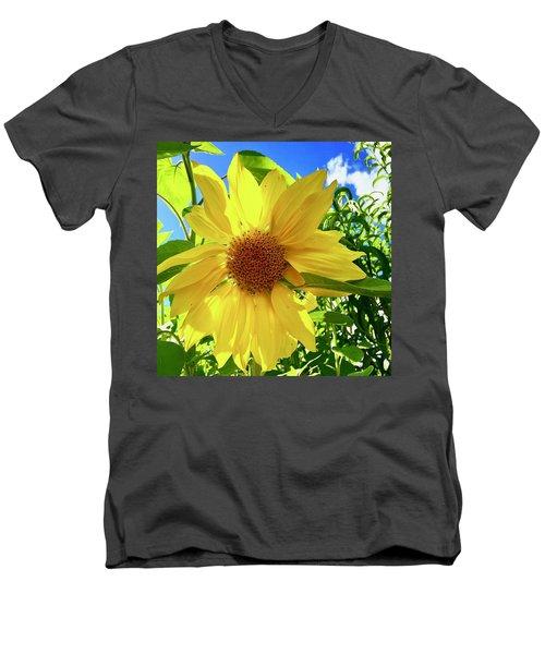 Tangled Sunflower Men's V-Neck T-Shirt